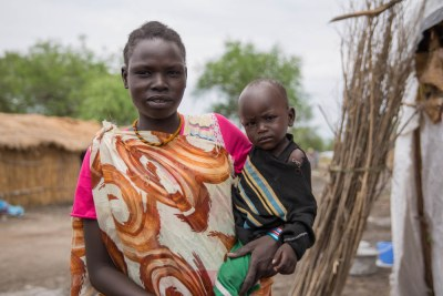 After fighting erupted in her village in Upper Nile last year, Rose, 26, has fled to Aburoc, in the northeast of the country.