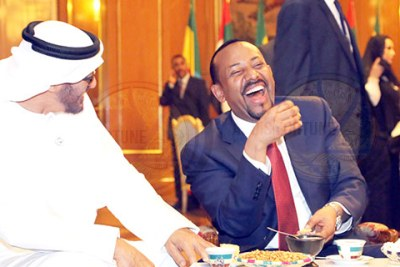 Prime Minister Abiy Ahmed and Mohammad bin Zayed Al Nahyan.
