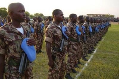UN peacekeepers in Burundi (file photo).