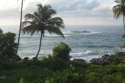 A view of the ocean from Harper city (file photo).