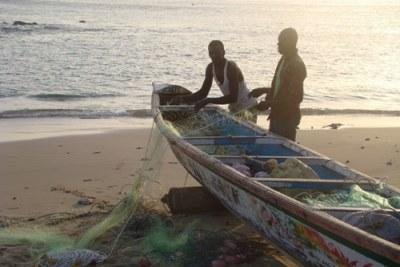 Des pêcheurs au Sénégal