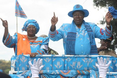 President Bingu wa Mutharika, right.