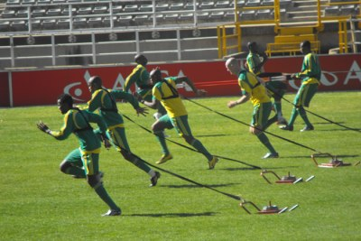 Bafana Bafana training session.