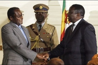 President Robert Mugabe and opposition leader Morgan Tsvangirai (file photo).