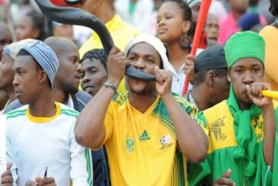 Des fans du football Sud-Africain.