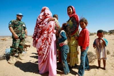 Des populations saharaouites.