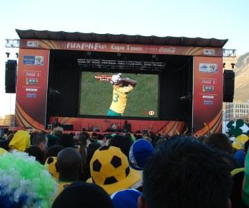 Bafana v France at a Cape Town Fan Park