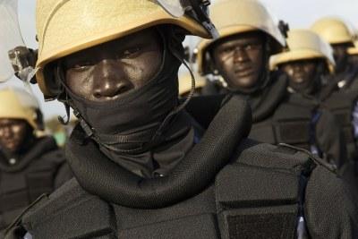 South Sudan police recruits (file photo).