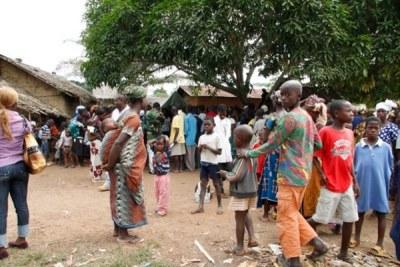 Ivoirian refugees.