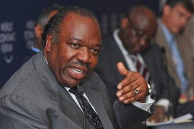 (Photo archive) - En premier plan, Ali Bongo Ondimba, President de la république de Gabon