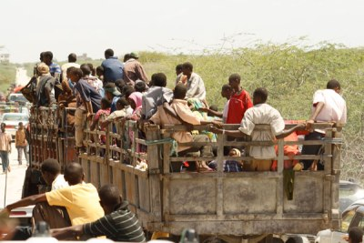 Children being transported to these camps (file photo).