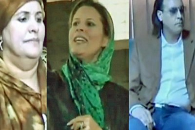 Safia, Aisha et Hannibal Kadhafi.