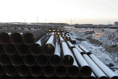 Construction of a gas pipeline (file photo).