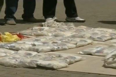 (Photo d'archives) - Une quantité de drogue saisie dans un des pays d'Afrique de l'Ouest