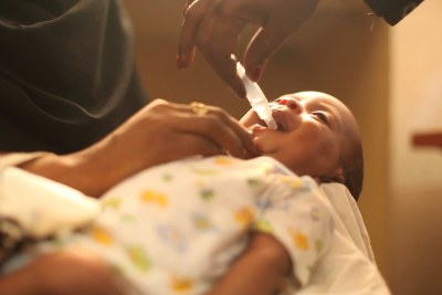 At the Samir health centre in Sudan's capital Khartoum, this baby was one of the first of tens of thousands of children to benefit from Sudan's introduction of rotavirus vaccine into the national immunisation programme (file photo).