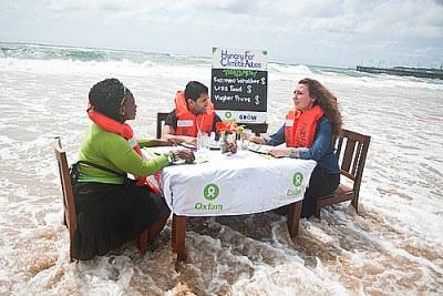 Oxfam illustre à COP17 les effets de changement climatique.