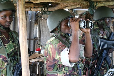 Kenyan soldiers during their