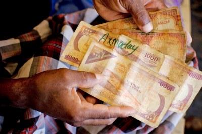 Somali currency.