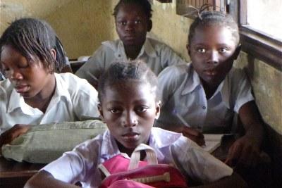 Des écoliéres congolaises.