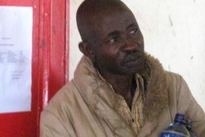 Le journaliste burundais de RFI en swahili, Hassan Ruvakuki, le jeudi 5 janvier 2012, au tribunal de grande instance de Cankuzo.