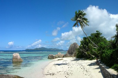 The beach of Anse Source d'Argent on La Digue.