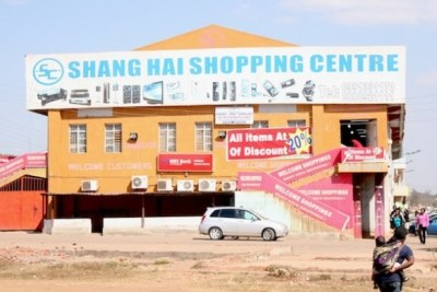 All Chinese-run businesses outside Malawi's four major cities have to close down after a new law barring foreigners from trading in outlying and rural areas. This store, in Lilongwe, will have to apply for a new licence to trade.