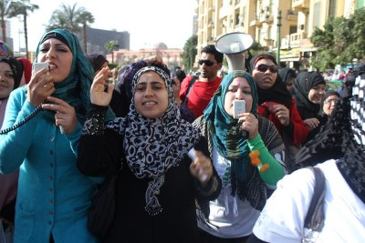 Women protest in Egypt (file photo).