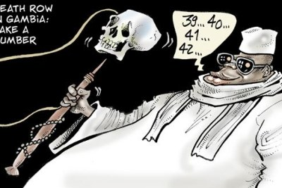 Catoon on Gambia executions