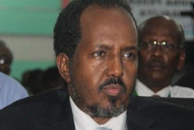 Former Somali leader Hassan Sheikh Mohamud (file photo).