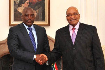 President Jacob Zuma hosts President Joseph Kabila Kabange of the DRC