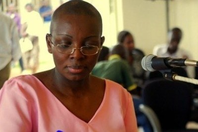 Rwandan jailed opposition politician Victoire Ingabire (file photo).