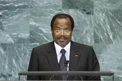 President Paul Biya addresses the United Nations.
