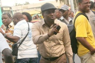 Togolese journalists protest.