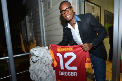 Didier Drogba, après sa signature à Galatasaray (Turquie)