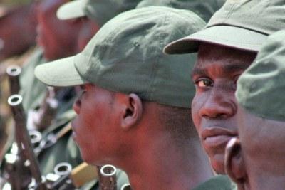 Soldats des forces armées de la République centrafricaine