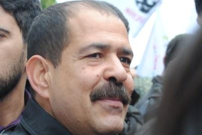 Chokri Belaïd, secrétaire général et porte-parole du Mouvement des patriotes démocrates.
