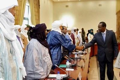 Blaise Compaoré à l'ouverture de la réunion sur la crise malienne à Ouagadougou