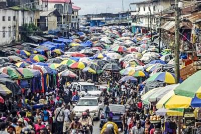 Waterside Market in Monrovia