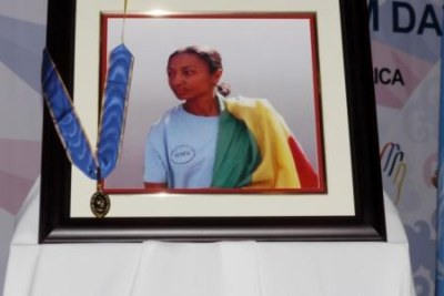Journalist Reeyot Alemu, currently serving a five-year jail term in Ethiopia.
