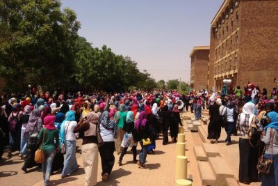 Protest in Sudan (file photo).