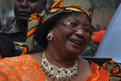Joyce Banda présidente du Malawi.