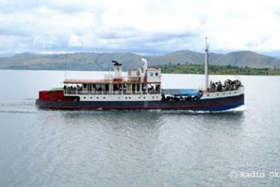 Un bateau sur le Lac Kivu