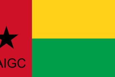 Drapeau de la Guinée-Bissau avec PAIGC