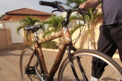 One of Winifred Selby's bamboo bikes.