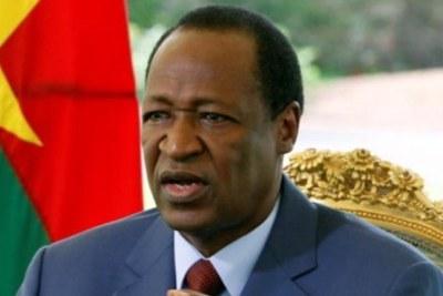 Former president Blaise Compaoré.