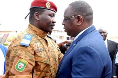 President Sall meets interim Head of State of Burkina Faso, Lt. Col Isaac Zida in Ouagadougou.