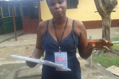 Susannah is one of hundreds of Active Case Finders who must move around communities in search of suspected Ebola cases.