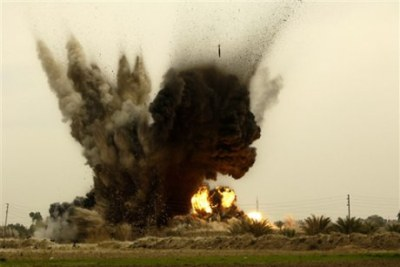 Bombardment in a Niger village.