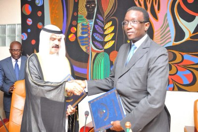 This Loan Agreement was signed on behalf of the Republic of Senegal by H.E. Mouhamadu Ba, Minister of Finance and  Mr. Thamer Al-Failakawi, Regional Manager for West African countries .