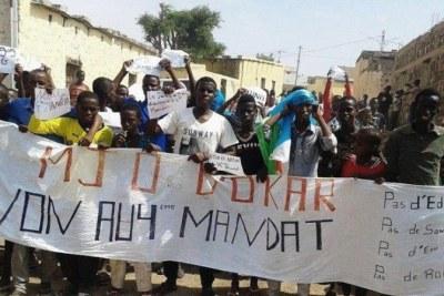 A protest in Djibouti earlier in 2015.